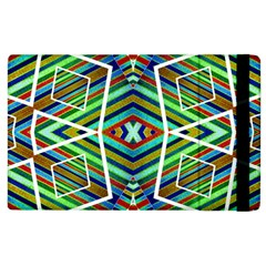 Colorful Geometric Abstract Pattern Apple Ipad 2 Flip Case