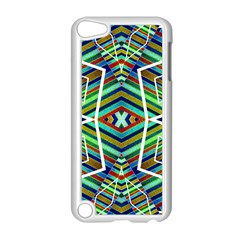 Colorful Geometric Abstract Pattern Apple iPod Touch 5 Case (White)