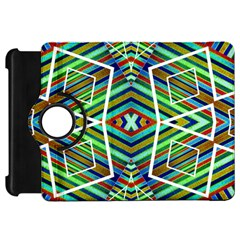 Colorful Geometric Abstract Pattern Kindle Fire HD 7  (1st Gen) Flip 360 Case