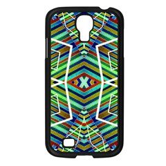 Colorful Geometric Abstract Pattern Samsung Galaxy S4 I9500/ I9505 Case (Black)