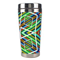 Colorful Geometric Abstract Pattern Stainless Steel Travel Tumbler