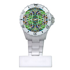 Colorful Geometric Abstract Pattern Nurses Watch