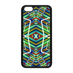 Colorful Geometric Abstract Pattern Apple iPhone 5C Seamless Case (Black)