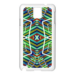 Colorful Geometric Abstract Pattern Samsung Galaxy Note 3 N9005 Case (White)
