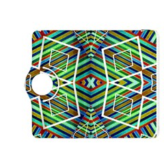 Colorful Geometric Abstract Pattern Kindle Fire Hdx 8 9  Flip 360 Case