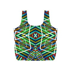 Colorful Geometric Abstract Pattern Reusable Bag (S)