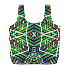 Colorful Geometric Abstract Pattern Reusable Bag (l)