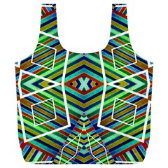 Colorful Geometric Abstract Pattern Reusable Bag (XL)