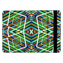 Colorful Geometric Abstract Pattern Samsung Galaxy Tab Pro 12 2  Flip Case