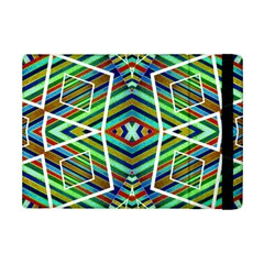 Colorful Geometric Abstract Pattern Apple iPad Mini 2 Flip Case