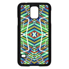 Colorful Geometric Abstract Pattern Samsung Galaxy S5 Case (Black)