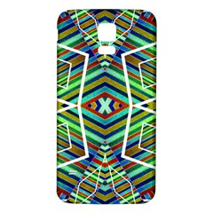 Colorful Geometric Abstract Pattern Samsung Galaxy S5 Back Case (white)