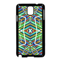 Colorful Geometric Abstract Pattern Samsung Galaxy Note 3 Neo Hardshell Case (Black)