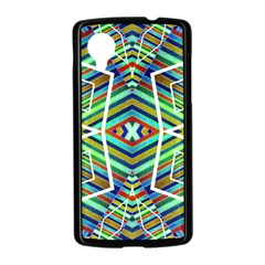 Colorful Geometric Abstract Pattern Google Nexus 5 Case (Black)