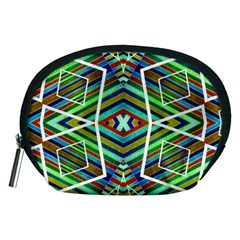 Colorful Geometric Abstract Pattern Accessories Pouch (medium)