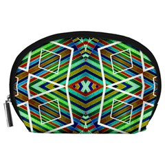 Colorful Geometric Abstract Pattern Accessories Pouch (Large)