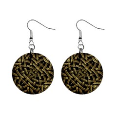 Ancient Arabesque Stone Ornament Mini Button Earrings