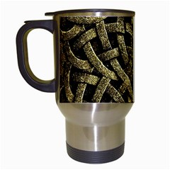 Ancient Arabesque Stone Ornament Travel Mug (White)