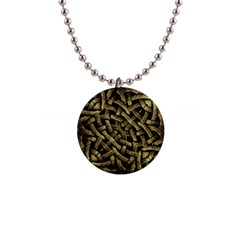 Ancient Arabesque Stone Ornament Button Necklace