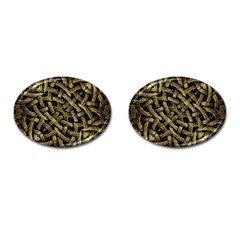 Ancient Arabesque Stone Ornament Cufflinks (Oval)