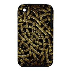 Ancient Arabesque Stone Ornament Apple iPhone 3G/3GS Hardshell Case (PC+Silicone)
