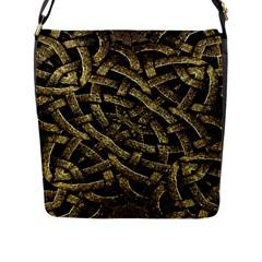 Ancient Arabesque Stone Ornament Flap Closure Messenger Bag (large)