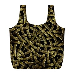 Ancient Arabesque Stone Ornament Reusable Bag (L)