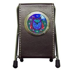 Moon Owl Stationery Holder Clock
