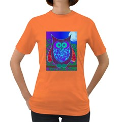 Moon Owl Women s T-shirt (Colored)
