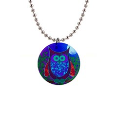 Moon Owl Button Necklace