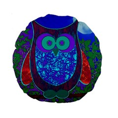 Moon Owl  15  Premium Round Cushion