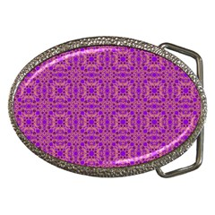 Purple Moroccan Pattern Belt Buckle (oval)