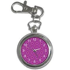 Purple Moroccan Pattern Key Chain Watch