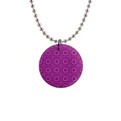 Purple Moroccan Pattern Button Necklace