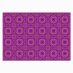 Purple Moroccan Pattern Glasses Cloth (Large, Two Sided)