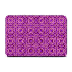 Purple Moroccan Pattern Small Door Mat