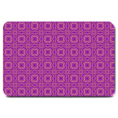 Purple Moroccan Pattern Large Door Mat