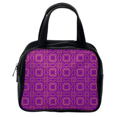 Purple Moroccan Pattern Classic Handbag (one Side)