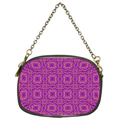 Purple Moroccan Pattern Chain Purse (one Side)