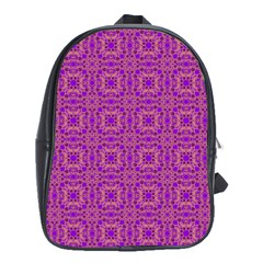 Purple Moroccan Pattern School Bag (large)