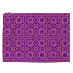 Purple Moroccan Pattern Cosmetic Bag (xxl)