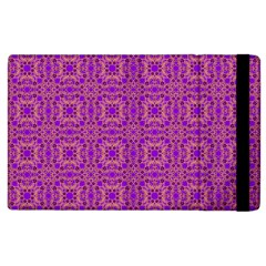 Purple Moroccan Pattern Apple iPad 3/4 Flip Case