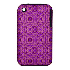 Purple Moroccan Pattern Apple iPhone 3G/3GS Hardshell Case (PC+Silicone)