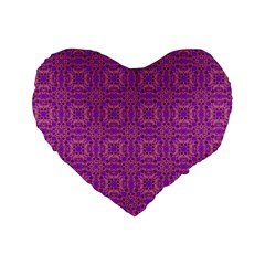Purple Moroccan Pattern 16  Premium Heart Shape Cushion