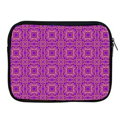Purple Moroccan Pattern Apple Ipad Zippered Sleeve