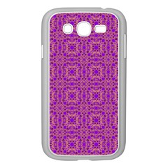 Purple Moroccan Pattern Samsung Galaxy Grand DUOS I9082 Case (White)