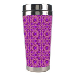 Purple Moroccan Pattern Stainless Steel Travel Tumbler