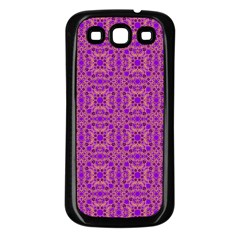 Purple Moroccan Pattern Samsung Galaxy S3 Back Case (black)