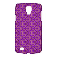 Purple Moroccan Pattern Samsung Galaxy S4 Active (I9295) Hardshell Case