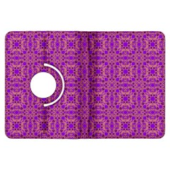 Purple Moroccan Pattern Kindle Fire HDX 7  Flip 360 Case